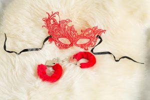 Costume, Roleplay, Fantasy, Handcuffs, Sexy, Red