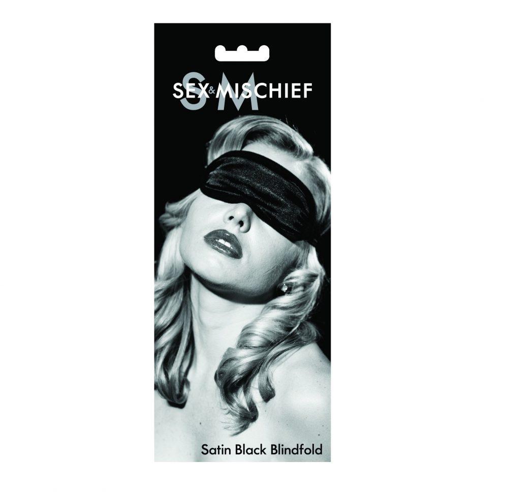 S&M Satin Black Blindfold